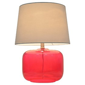 Glass Table Lamp Pink (Includes CFL bulb) - Pillow