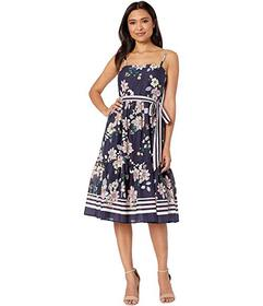 Vince Camuto Printed Cold Shoulder Maxi Dress with