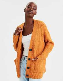 American Eagle AE Button Up Long Cardigan