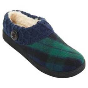 Womens Clarks® Nikki Plaid Scuff Slipper