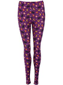 Just One Purple Halloween Cats and Candy Leggings