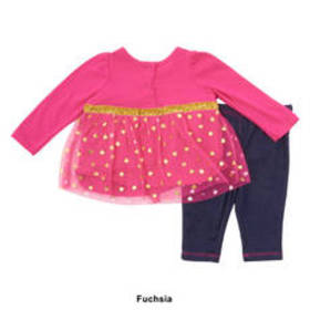 Baby Girl (3-9M) Weeplay 2pc. Hearts Lace Top & Le