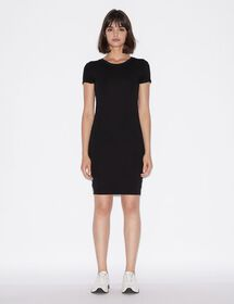 Armani VISCOSE JERSEY DRESS WITH SIDE BANDS AND CO