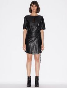 Armani FAUX LEATHER DRESS