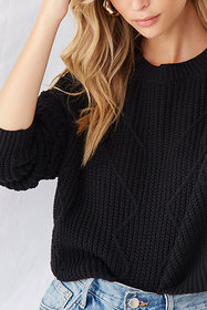 Forever21 Geo-Stitched Ribbed Sweater