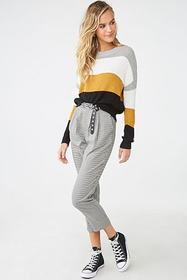 Forever21 Colorblock Open-Knit Sweater