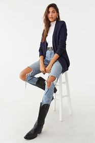 Forever21 Ribbed Open-Front Cardigan