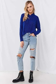 Forever21 Popcorn Knit Hoodie