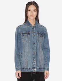 Armani DENIM JACKET WITH PRINT