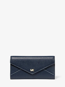 Michael Kors Large Two-Tone Pebbled Leather Envelo