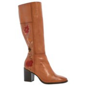 FRYE Frye Nova Flower Tall Womens Embroidered Sued