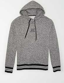 American Eagle AE Plaid Graphic Pullover Hoodie