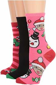 Betsey Johnson 3-Pack Christmas Crew Socks