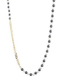 Carolee Alice 10K Gold Plated Faux Pearl Necklace