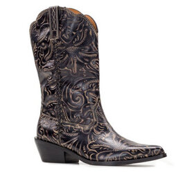 Patricia Nash Tuscan Tooled Leather Western Boots