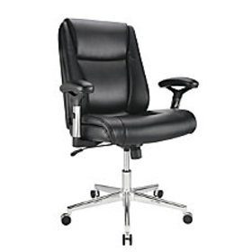 Realspace Densey Bonded Leather Managerial Mid
