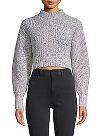 Rebecca Minkoff Ribbed Cotton-Blend Cropped Sweate
