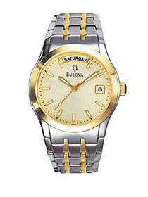 Bulova Two-Tone Watch NO COLOR