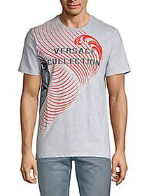 Versace Collection Graphic Cotton Tee LIGHT GREY