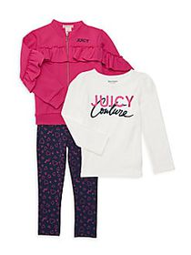 Juicy Couture Little Girl's 3-Piece Jacket, Top &