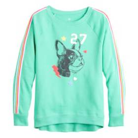 Girls 7-16 SO® Long Sleeve Raglan Crew Sweatshirt