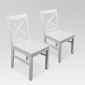Carey Dining Chair - White (Set of 2) - Threshold&