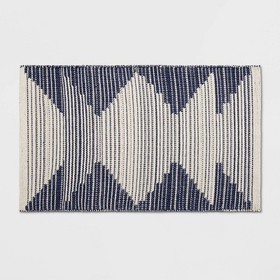 """1'8""""X2'10""""/20""""X34"""" Damask Woven Accent Rug Navy/Of"""