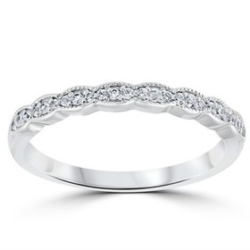 Pompeii3 1/5 cttw Diamond Stackable Womens Wedding