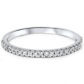 Pompeii3 1/5ct Pave Diamond Wedding Ring 10K White