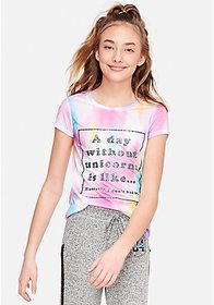 Justice A Day Without Unicorns Graphic Tee