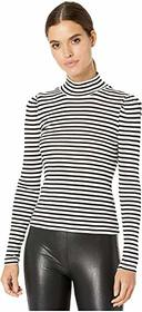 Splendid Striped Long Sleeve Turtleneck