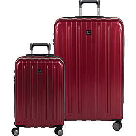 Delsey Helium Titanium Carry On and 29 Inch Spinne