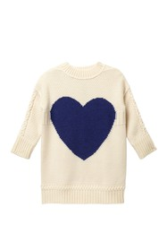 Burberry Heart Intarsia Sweater (Little Girls & Bi