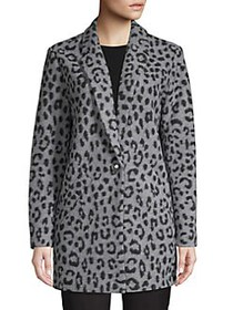 MICHAEL Michael Kors Textured Cheetah-Print Coat G