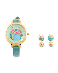 BETSEY JOHNSON Women's Set Of Owl Watch And Two Se