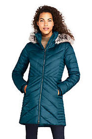 Lands End Women's Insulated Plush Lined Winter Coa