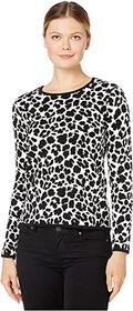 Vince Camuto Long Sleeve Animal Jacquard Pullover