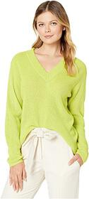 Vince Camuto Long Sleeve Ribbed V-Neck Pullover Sw