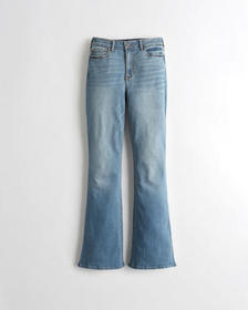Hollister Classic Stretch High-Rise Flare Jeans, M