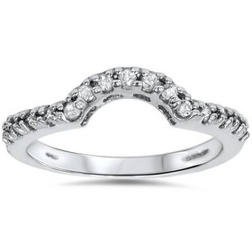 Pompeii3 1/4ct Diamond Curved Notched Ring Guard E