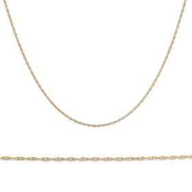 "Pompeii3 Solid 10k Yellow Gold 18"" Dainty Chain Wi"