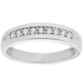 Pompeii3 Mens 1/4ct Diamond Wedding Ring 10k White