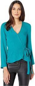 BCBGeneration Wrap Blouse TJA1260544