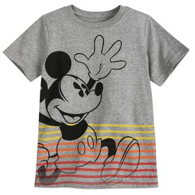 Disney Mickey Mouse Striped T-Shirt for Boys