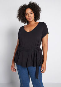 ModCloth ModCloth Instant Connection Knit Top Blac