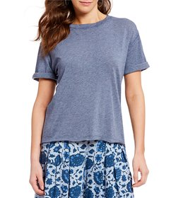 Free People Cassidy Knit Solid Tee Shirt