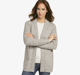 Johnston Murphy Cable-Sleeve Cardigan