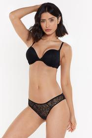 Nasty Gal Womens Mix & Match Black Lace Super Push
