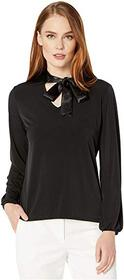 Calvin Klein Long Sleeve Top with Chrimse Tie