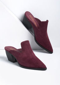 Sbicca To and From Suede Upper Mule in Burgundy